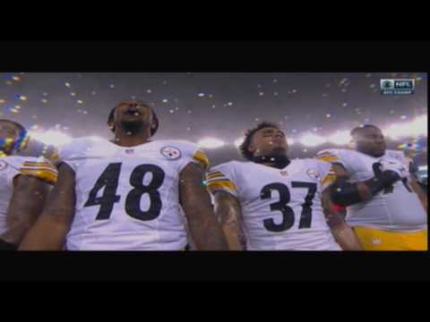 Edwin McCain Sings National Anthem at Patriots-Steelers AFC Championship Game 1/22/17