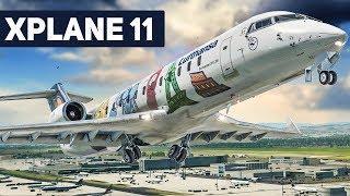 X-Plane 11 CRJ 200 Frankfurt - Berlin #1: VORBEREITUNGEN für den Abflug! | Flug Simulator