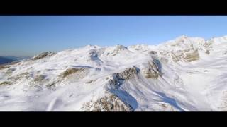 Val Thorens Ski Resort Drone footage