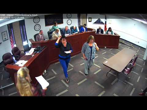 Brazos County Commissioners Court 04-10-18