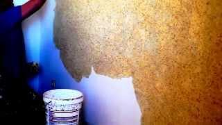 Жидкие обои. Нанесение жидких обоев. Ремонт квартиры. Декоративная штукатурка стен. Специалисты.