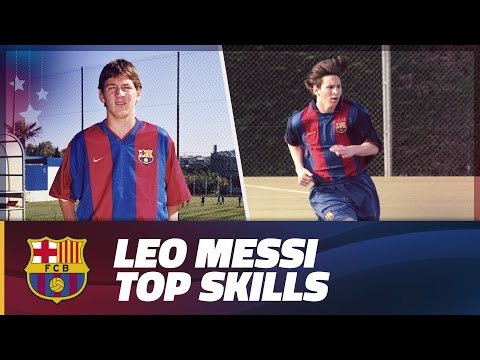 COMPILATION: Leo Messi top skills during Barça Youth Academy