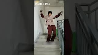 Let's dance! Chinese sanitation worker who mastered the #moonwalk becomes net famous.