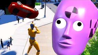 巨大なマネキンが大暴走!?AIロボット空を飛ぶ!