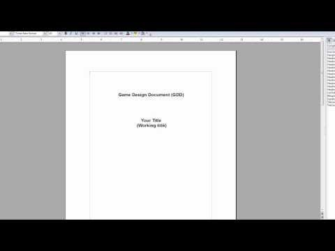 How To Make And Write A Gdd Game Design Document  Youtube