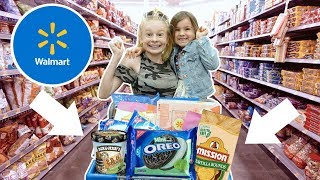 KiDS WALMART GROCERY SHOPPiNG CHALLENGE