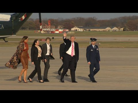 Facing busy agenda, Trump kicks off Thanksgiving with tweets from Fla.