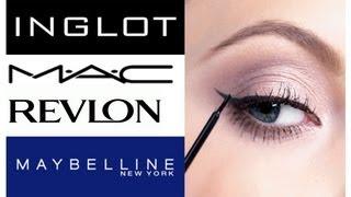 Обзор-сравнение подводок для глаз / MAC, INGLOT, Revlon, Maybelline, Milani