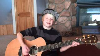 Bruno Mars - Grenade acoustic cover by 9 yr. old Carson Lueders