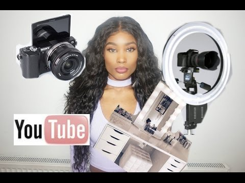 Starting up a youtube channel on a budget (Makeup) Lighting Camera and more