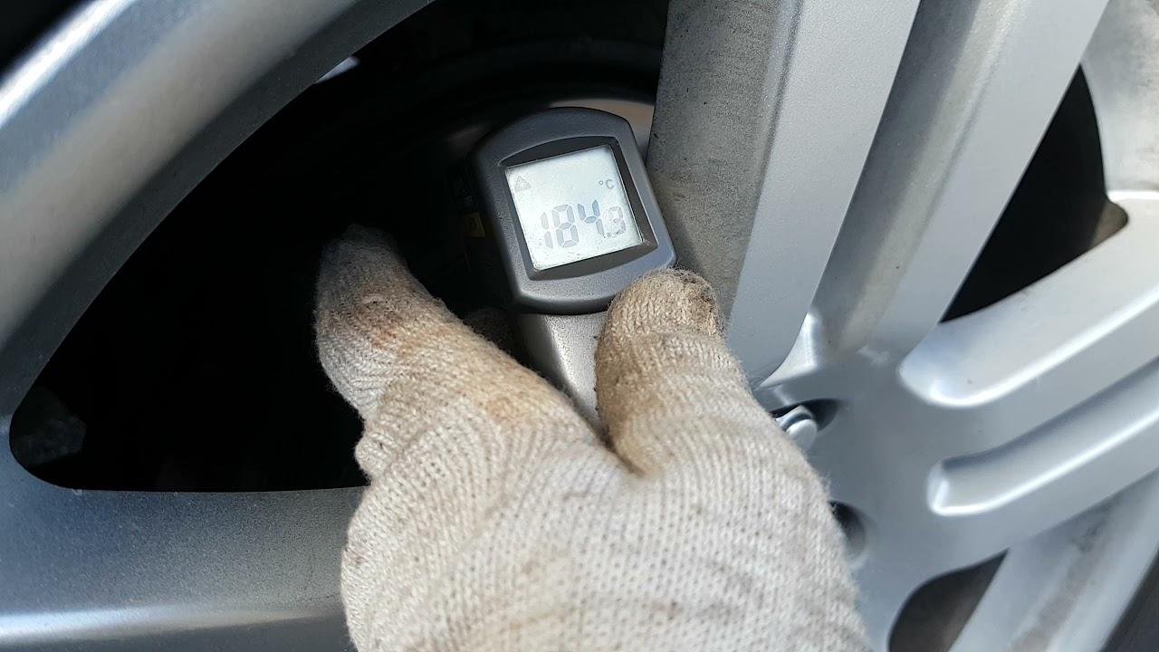 Toyota Land Cruiser Prado. Замер температуры тормозных дисков перед и зад. Заметки.