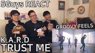 [FUNNY FANBOYS] KARD - Trust Me (5Guys MV REACT)