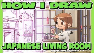 How I Draw Japanese Room | Living Room | Bed Room