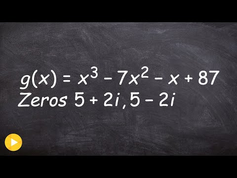Finding The Zeros Given One Complex Zeros