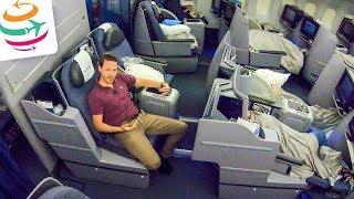 United Airlines Business Class 777-200ER   GlobalTraveler.TV