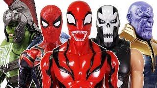 Crossbones & Thanos attacking the Avengers! Go~! Hulk, Iron Man, Spider-Man, Captain America