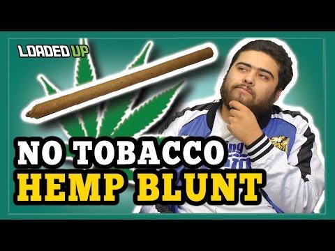 Smoking Weed With Hemp Blunt Wrap Tobacco Free!
