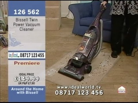 Bissell Vacuum Cleaners Being Demonstrated on Ideal World Shopping Channel