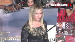 Ashley Tisdale arrives at Twilight Saga Breaking Dawn Part II World premiere
