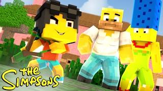 Minecraft: WHO'S YOUR FAMILY? - O BEBÊ MAIS LOUCO DOS SIMPSONS! ( The Simpsons )