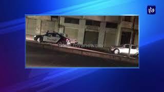 إصابة رجلي أمن خلال ملاحقة مطلوبين في إربد - (21-4-2018)