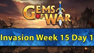 ⚔️ Gems of War Invasions | Week 15 Day 1 | Naga Invasions ⚔️