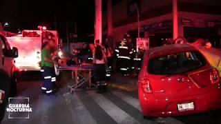 Aparatoso choque en avenida Américas deja varios lesionados #GuardiaNocturna