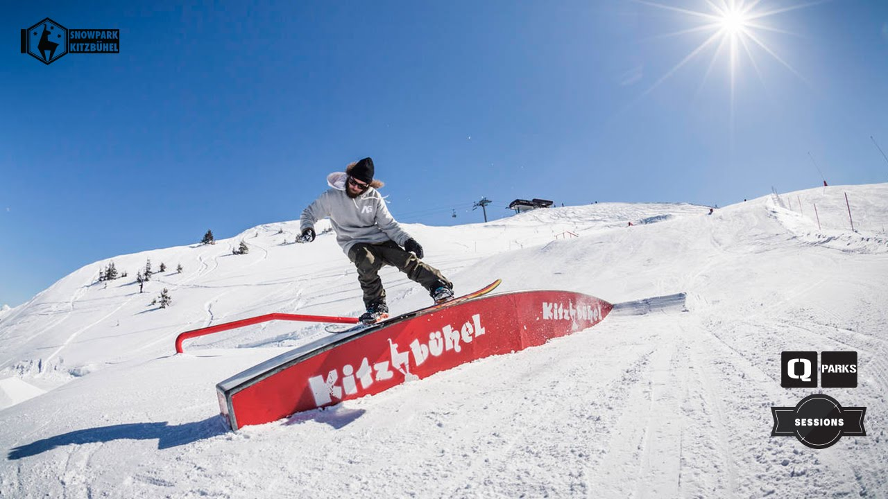 Snowpark kitzb�hel: march snowboard session