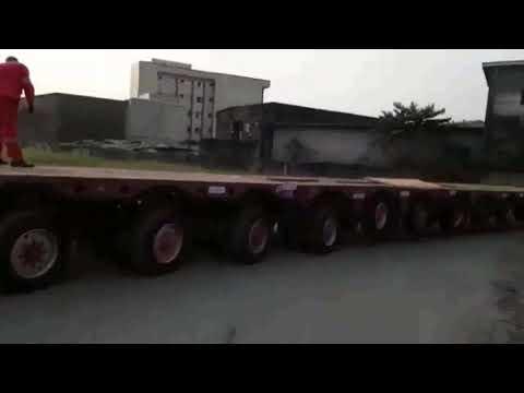 Colonne Perenco 31m (Cameroun). Déplacement remorque 12L vers port de Douala pour chargement