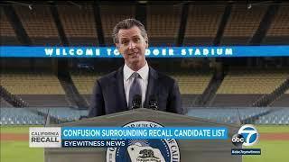 California Recall: List of candidates challenging Gov. Gavin Newsom draws confusion
