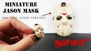 DIY Miniature Jason Mask (and life sized one!)