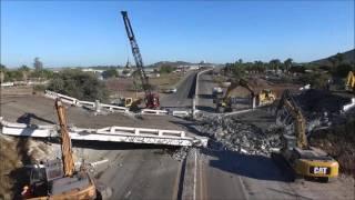 Demolición de puentes en el Distribuidor Vial México 15-Los Mochis