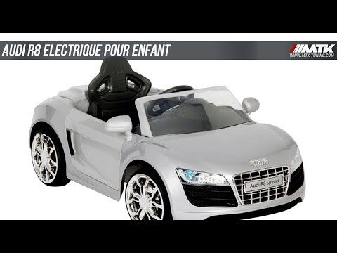 audi r8 voiture lectrique pour enfant mtk tuning youtube. Black Bedroom Furniture Sets. Home Design Ideas