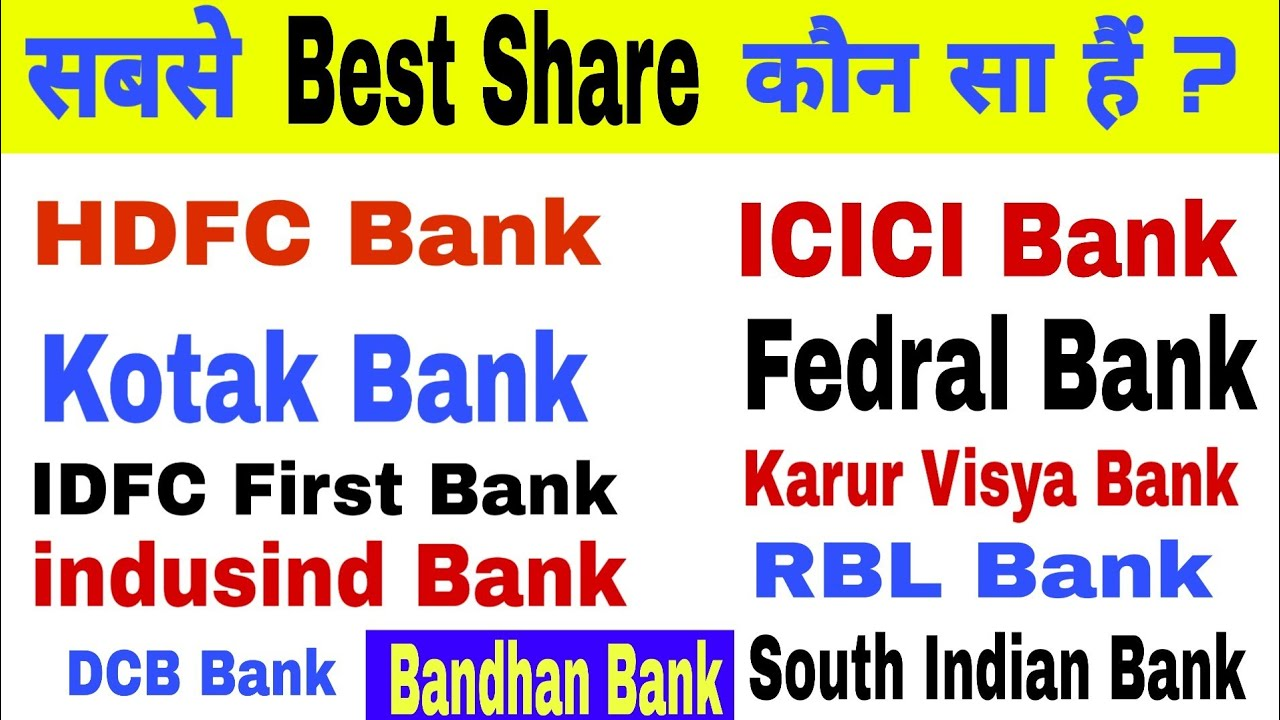 Top Banks in india | Top Bank Shares in india | Private Bank Share Price, Top Private Banks in india