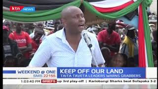 Mashujaa day celebrations in Taita Taveta County were dominated by controversial land issues