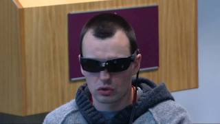 Blind soldier learns to 'see' with his tongue