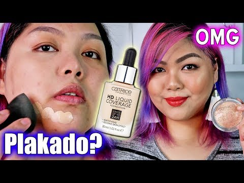 CATRICE HD LIQUID COVERAGE FOUNDATION REVIEW AND DEMO (with WEAR TEST) | Bing Castro