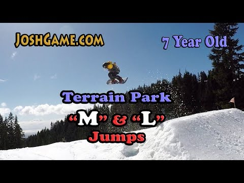 7 Year Old (L) Large Terrain Park Snowboard Jumps (M & L Park Features)