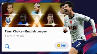 Fans' Choice - English League Pack Opening - Pes 2020 Mobile