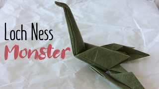 How to make a Paper Loch Ness Monster