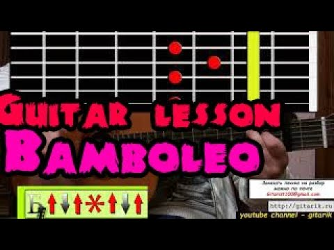 Gipsy Kings - Bamboleo (Guitar lesson, flamenco)