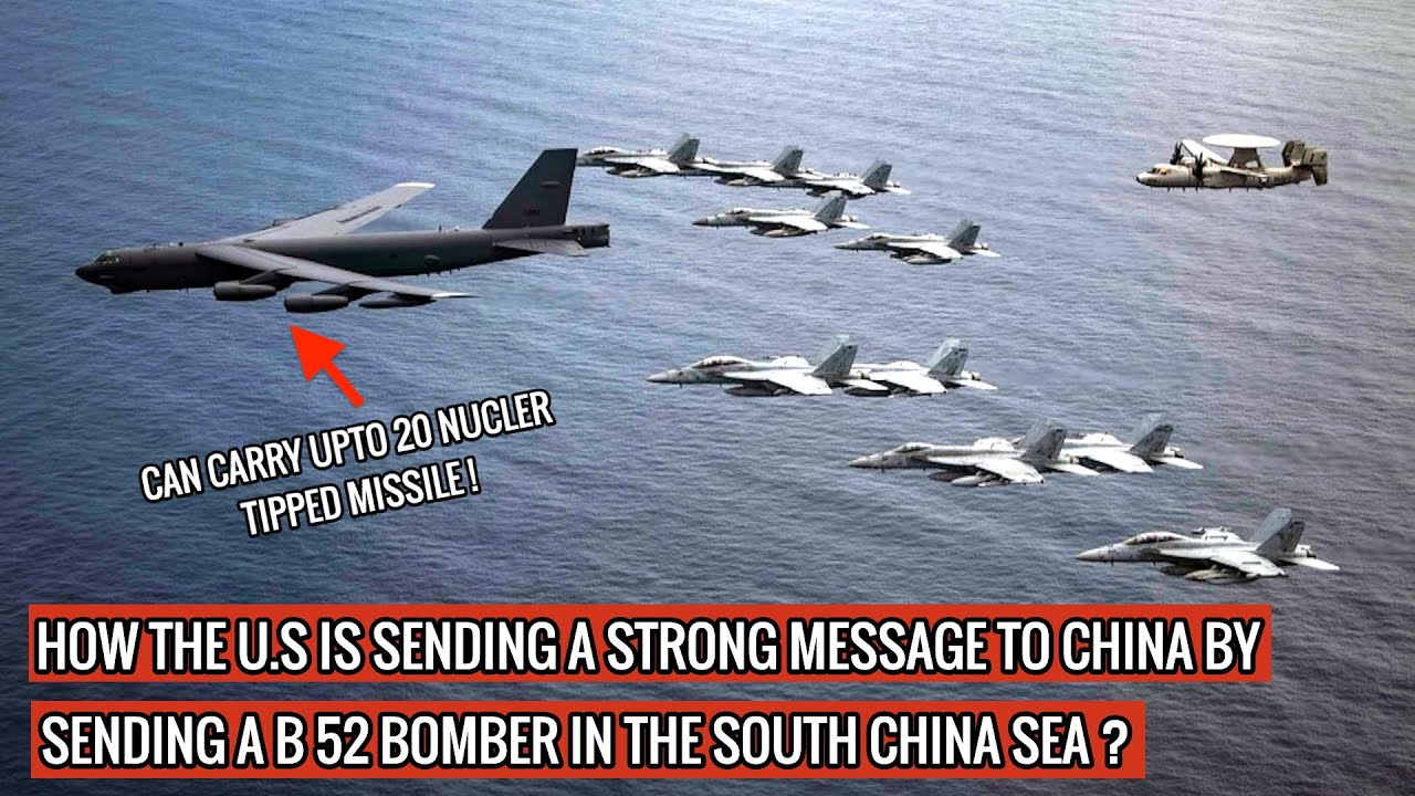 B52 BOMBER REACHES SOUTH CHINA SEA WITH 28 HR FLIGHT - SHOWS U.S CAN INTERVENE IF CHINA EYES TAIWAN!