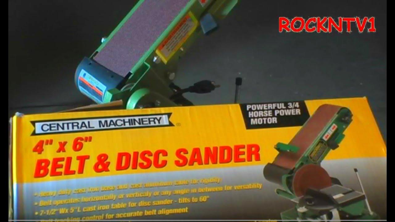 4x6 Sander Harbor Freight Belt Disk Combo Youtube