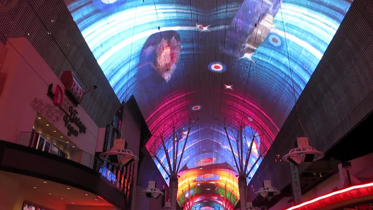 Old Vegas Strip Ceiling Light Show