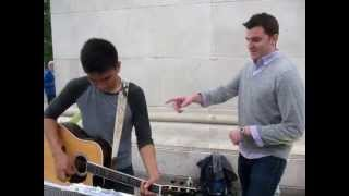 Home by Michael Bublé sung by Chris Myers, with Angelo Sarmiento on guitar
