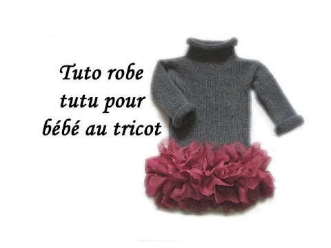c017d8ed7f9e0 TUTO TRICOT ROBE FROUFROU AU TRICOT FACILE! knitted baby dress tutorial