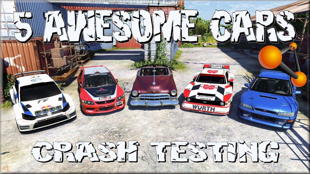 Beamng Drive 5 Awesome Cars Crash Testing 82 Insanegaz