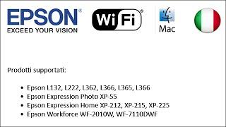Come configurare stampanti Epson per utilizzare il Wi-Fi 2014 (Mac IT)