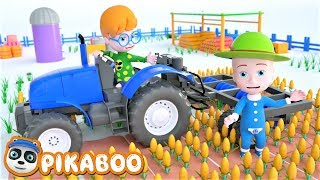 Kids Have Fun with Farm Work 💓 Learning Videos for Children 💓 Tractor, Combine Harvester
