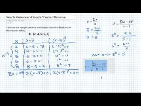 how to find variance using calculator